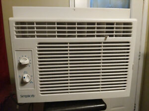 Window mounted 5200 BTU air conditioner.