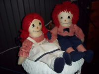 Anne and Andy rag dolls with buggy