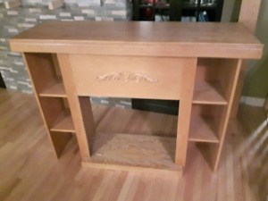 Oak Fireplace Mantle