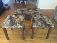 Coffee table 2 end tables $150 OBO