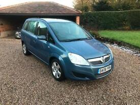 2008/08 Vauxhall/Opel Zafira 1.6i 16v Exclusive 5dr Petrol 7 Seats BLUE METALLIC