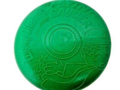 Vintage US Lucky Charms Flying Saucer Toy Disc Mini Frisbee Retro Cereal