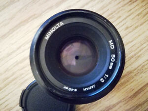 ! Minolta md 50mm f2 lens with adapter for Sony E