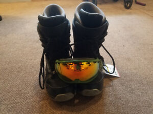 Firefly Snowboard boots - I/S goggles