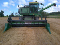 READY FOR WHEAT SEASON JOHN DEERE 6600 with 15ft FLEXHEAD