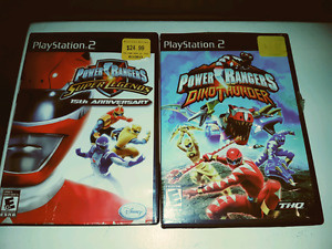 Power rangers super legends and Dino thunder Sony ps2 games