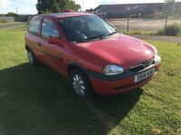X REG VAUXHALL CORSA 1.0 i 12V GLS 5DR-12 MONTHS MOT-NEW CLUTCH-LOW INSURANCE-LOOKS & DRIVES WELL