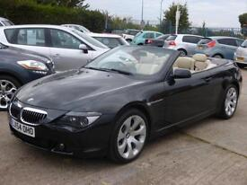 BMW 645 4.4 AUTO Ci, CREAM LEATHER, PRO NAVIGATION, 65000 MILES ONLY