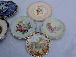 Vintage hand painted floral plates England German Bavaria