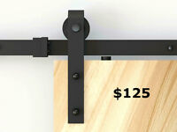 Barn door and hardware with fast delivery