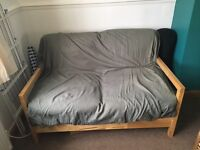 IKEA wooden frame sofa