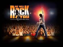 We Will Rock You Tickets x2 - Wed 4 May 8pm - Syd Lyric Theatre Sydney City Inner Sydney Preview