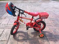 Kids fire rescue bike and safety helmet
