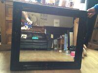 Black vintage style mirror