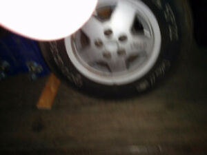 Micheln mud and snow rims / tires for Jeep yj Strathcona County Edmonton Area image 3