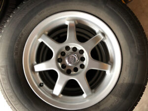 265-70-16,NICE MICHELIN USED TIRES ON ALLOY WHEELS,ONLY 400