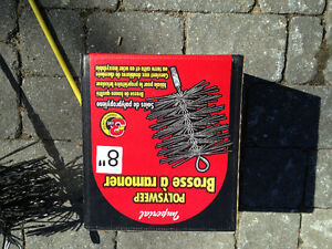 Brosse a ramoner et extention- Chimney brush with extentions