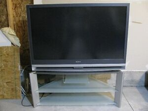 "50"" SONY WEGA TV AND Matching STAND"