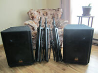 WHARFEDALE EVP X SERIES SPEAKERS WITH STANDS PLUS