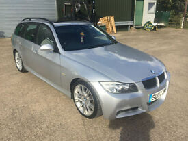 2007/07 BMW 3 SERIES 2.0 Diesel M Sport Touring Tourer Estate Automatic Silver