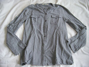 Old Navy grey military look top