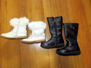NEW two pairs of size 7 toddler boots