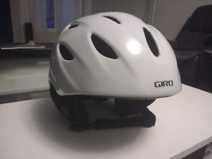 Like new White Giro helmet Medium