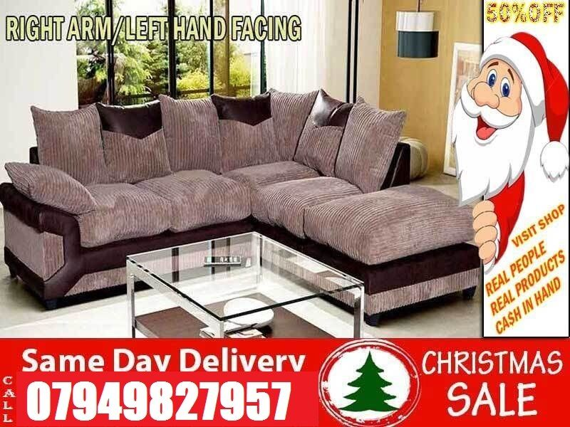 Christmas Special3 and 2 Sofain LondonGumtree - Measurements CORNER Corner Sofa Width With Footstool 250cm 222cm CORNER TO ARM Width 240cm CORNER TO CHAISE Width 215cm SIZES 3 SEATER 2 SEATER L 205CM 165C H 90CM 90CM W 92CM 92CM Rates 3 and 2 Sofa 349 Corner Sofa 349 Colours available Black...