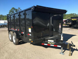 WANTED LARGE DUMP TRAILER 14' -16-18ft DUAL or TRI AXEL $$