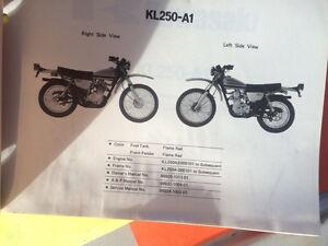 1978 Kawasaki KL250-A1 Motorcycle Parts Book Regina Regina Area image 2
