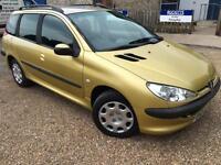 2004 '04' Peugeot 206 1.4 SW. Petrol. Manual. Estate. Low Miles. Px Swap