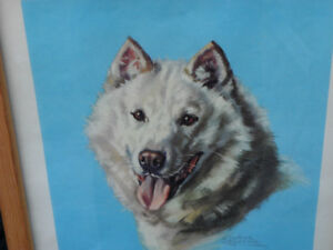 Original Josephine Crumrine Dog Painting $1000. Prince George British Columbia image 1