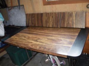 Dark kitchen table