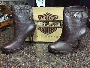 Women's Harley Davidson Motorcycle boots.