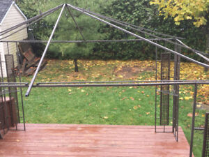Abri soleil avec toile gazebo sun shelter with roof