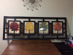 Picture of 4 season with beautiful dark wood frame