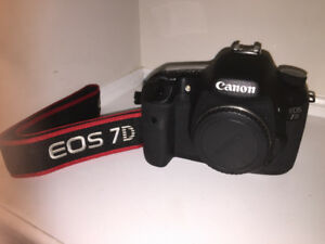 CANON EOS 7D CAMERA + ACCESSORIES