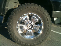 """Set of 4 Toyo 37"""" tires/ with 20"""" rims"""