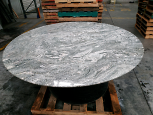 Large marble table 170cm diameter, boardroom or dining table