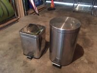 A couple of kitchen bins for sale