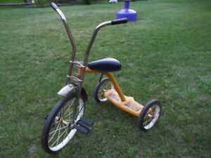 Vintage kids chopper style handlebars tricycle Made in Canada