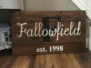 Rustic Custom Made Family Name Sign