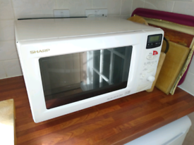 Sharp double grill and oven microwave cooker