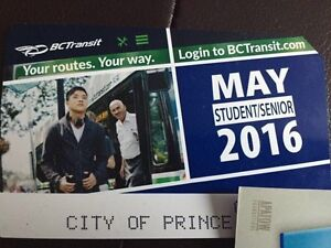 May student bus pass.         40.00