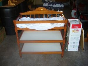 Change Table and Diaper Genie