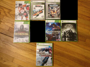 Assorted Xbox 360 games, combined or individually priced