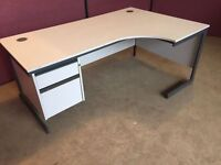 Grey 1800 corner office desk