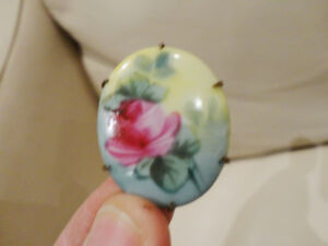 Pink Rose Vintage 1940's Brooche Pin