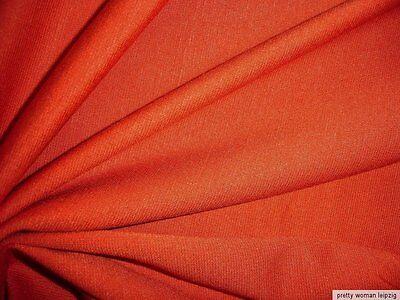 0,5 Lfm Bündchenstoff 4,23€/m² Baumwolle Lycra terrakotta  (2)