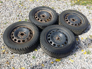 """Set of Winter tires and wheels 16"""" 205/55/R16 Gislaved tires"""